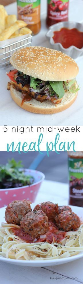 Stuck for tasty dinner inspiration?  Try this 5 night quick and easy mid-week meal plan that they family will love.