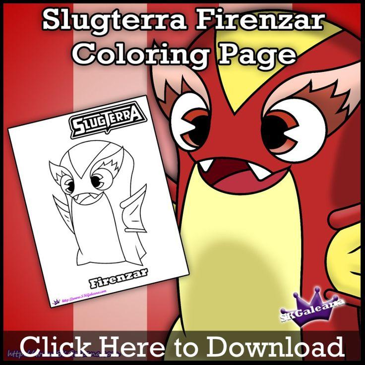 Firenzar Slugterra coloring Page