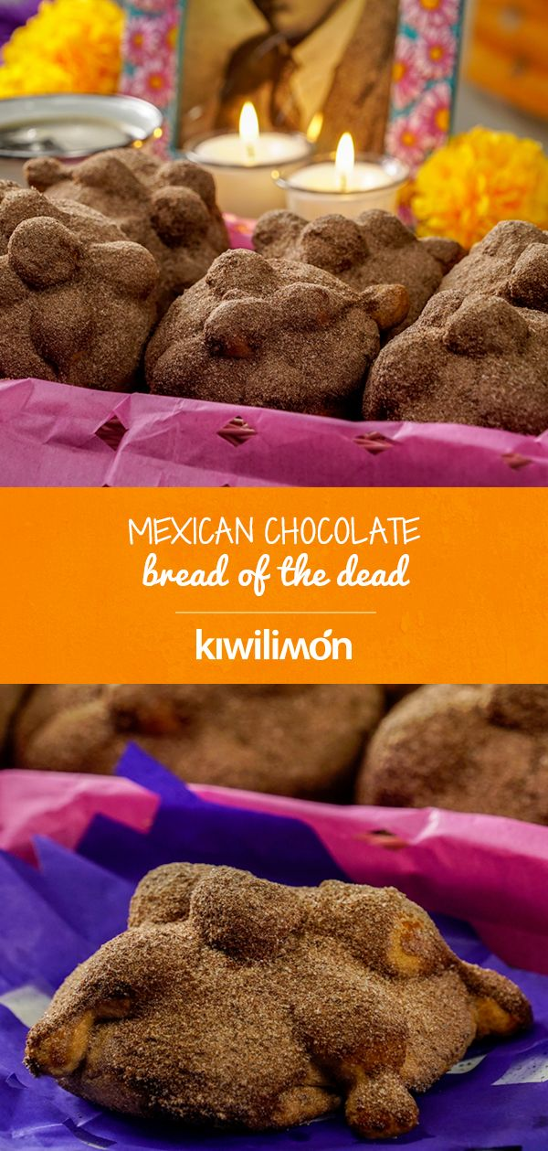 The bread of the dead is a very traditional bread that is consumed in Mexico from the month of October, until the end of November. For this delicious recipe you must buy the chocolate that you like, we recommend that it be table chocolate, for its flavor and texture. Brioche Bread, Mexican Chocolate, Yummy Food, Tasty, Cheat Meal, Eat Dessert First, Mexican Food Recipes, Bread Recipes, Holiday Recipes