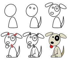Image result for hot to draw a dog step by step