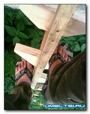 Садовая переносная деревянная лестница своими руками