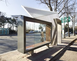 Sculptural bus shelters