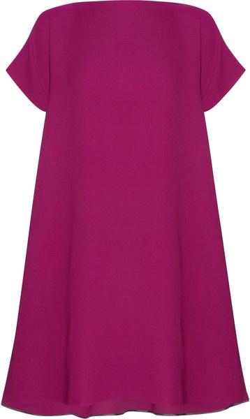 victoria beckham trapeze Wool and Silk-blend Trapeze Dress - Lyst