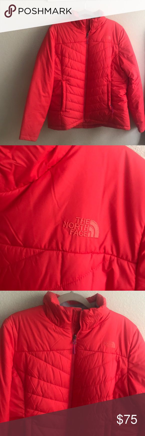 North Face red quilted jacket XL North Face Quilted red XL jacket. Brand new The North Face Jackets & Coats Puffers