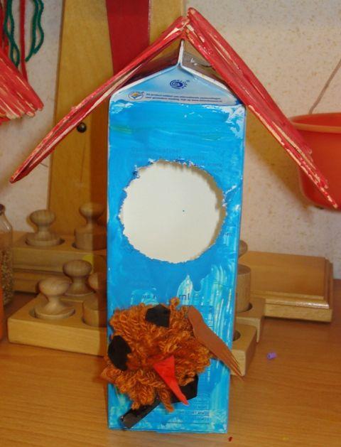 * Knutselen 3d: Vogelhuisje met vogeltjes pompoen!