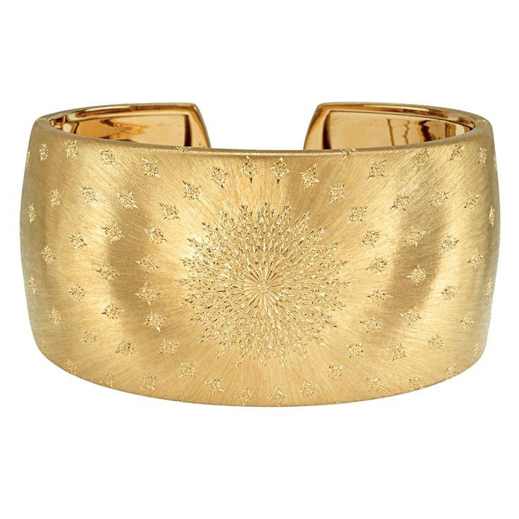 "Buccellati ""Byzantine"" 18k Gold Cuff Bracelet"