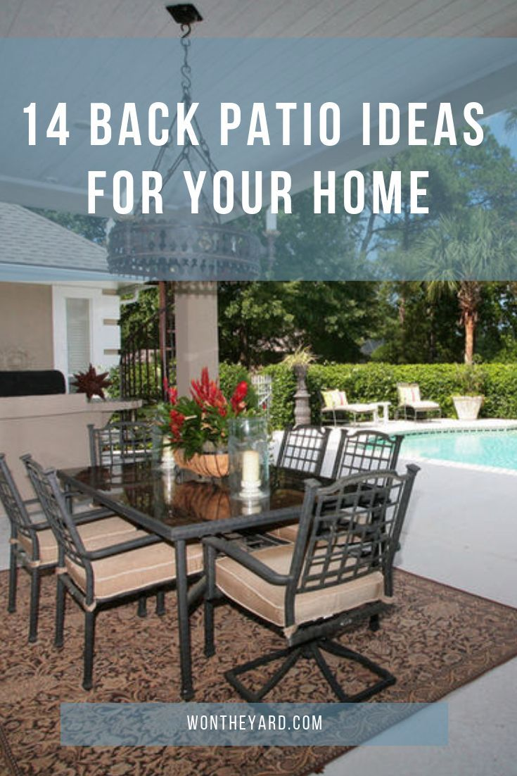 14 back patio ideas for your home with images yard inspiration rh pinterest com