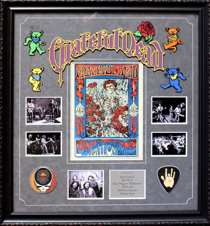 "Grateful Dead signed official tour poster with Jerry Garcia and Ron ""Pigpen"" McKernan"