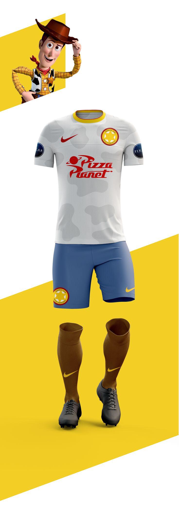 Woody e Buzz Lightyer representando times? Um designer criou a Pixar Football League para imaginar isso