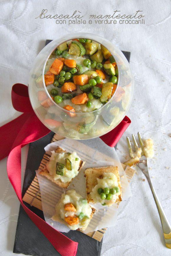 """#Baccalà #mantecato con #patate e #verdure croccanti. Perfetto per le vostre #feste, e originale come """"#cocktail"""" di benvenuto per #Natale! La ricetta la trovate su http://noodloves.it/baccala-mantecato-con-verdure-croccanti/"""