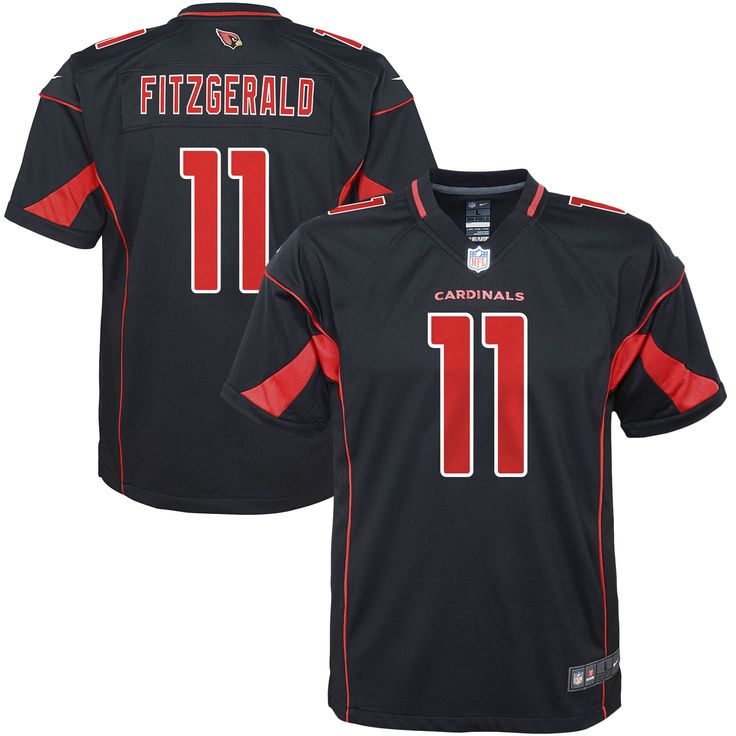 Larry Fitzgerald Arizona Cardinals Nike Youth Color Rush Game Jersey - Black - $74.99