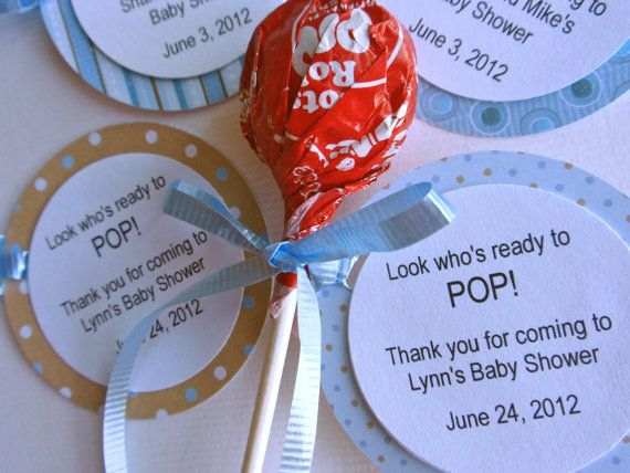 Party Favor Idea - Ready to POP Baby Shower Favors by tarakstationery on Etsy, $1.10