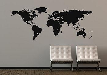 World Map Wall Sticker, notonthehighstreet.com £29.75