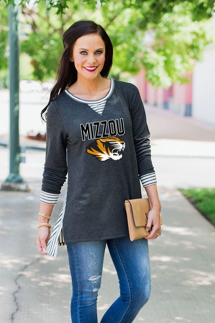 Missouri Tigers You'll Be Back Striped Panel Oversized Tunic