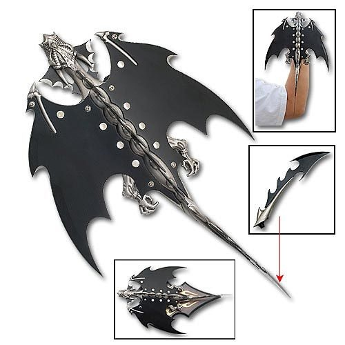 A Wrist Mounted Blade In The Shape Of A Flying Dragon That