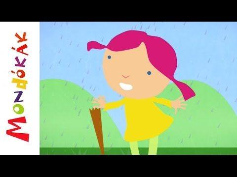 Esik eső, csepereg (mondóka, rajzfilm gyerekeknek)