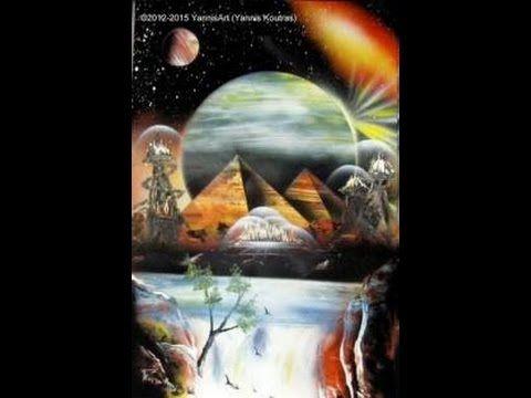 Pyramids - Tutorial  -  Spray paint art
