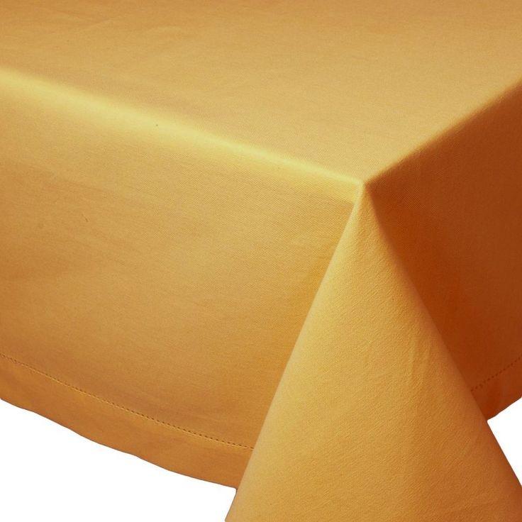 "Lintex Hemstitched Banquet Tablecloth ~ Oblong ~ Gold ~ 60"" x 84"" NEW"