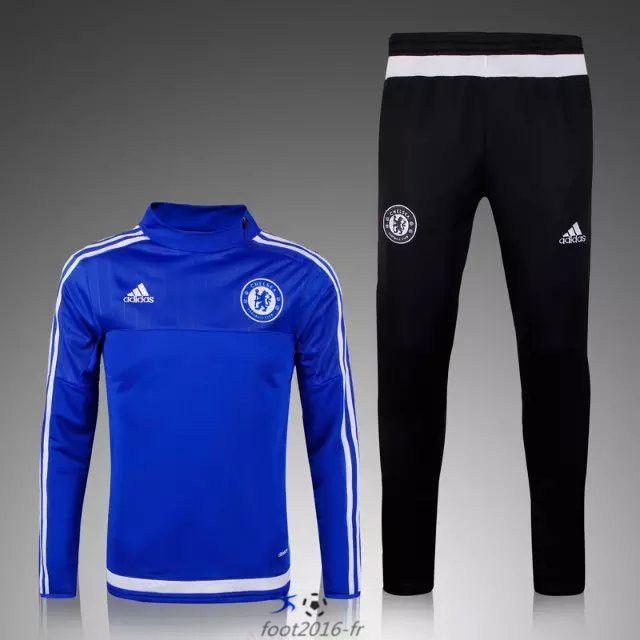 vente de Official Nouveau Survetement de foot Chelsea Bleu 2015 2016 pas cher