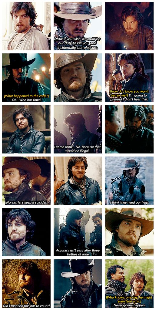 The Musketeers - Quotable Athos gif set