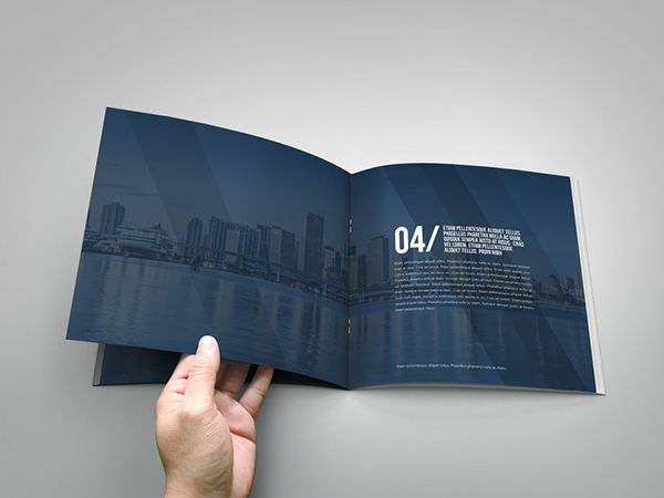 Free Square Brochure Template Indesign Business Brochure Square Indesign Template On Behance Templates Thiết Kế