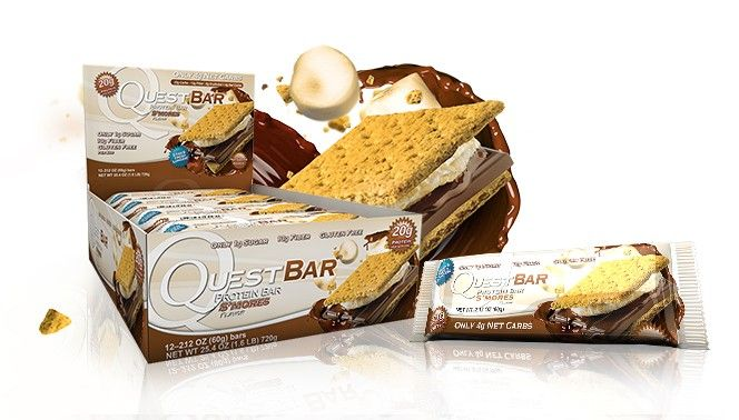 Yes, people.  There is a new variety - S'Mores.  They are AMAZING!!!! Quest Low Carb Gluten Free Protein Bars - Official Site