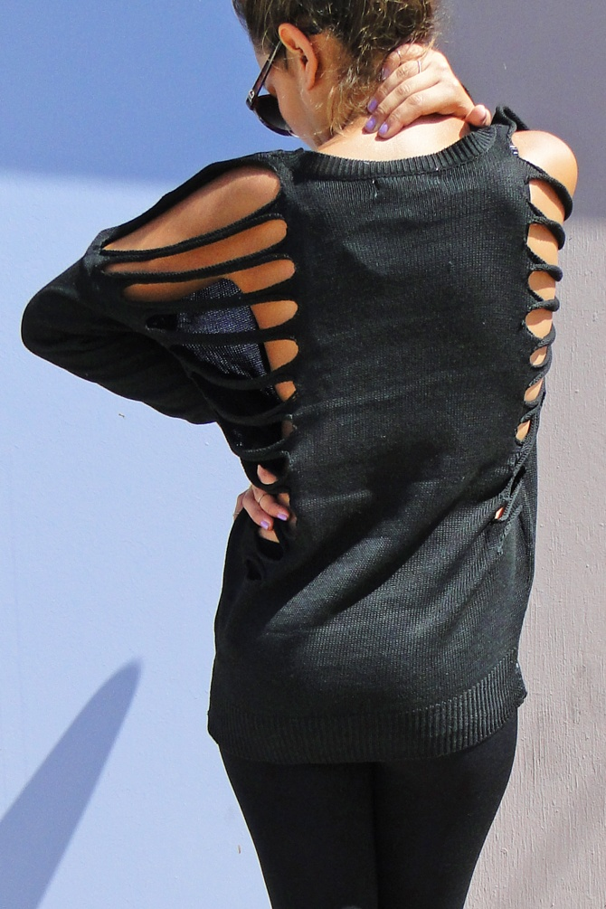 Laser cut Sweater - Dreamgirls  available at www.shopdreamgirls.com
