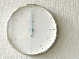 壁掛け時計、置時計、ウォールクロック電波時計、電波ステップムーブメント電波時計MIZUIRO〔ミズイロ〕ホワイト