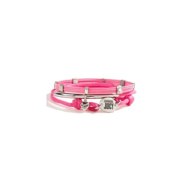 Juicy Couture | Shop Online | Women | Live for Gifts ($52) ❤ liked on Polyvore featuring jewelry, bracelets, accessories, juicy, juicy couture, juicy couture bangle, juicy couture jewelry and juicy couture jewellery