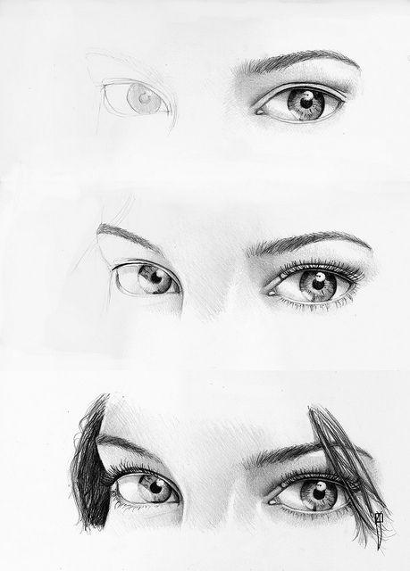 procesos de dibujo: drawing eyes II/ dibujando ojos II