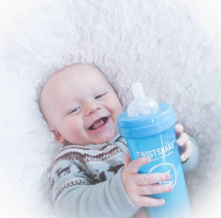 This is how happy you get when you see your favorite color Cookiecrumb  #twistshake #twistshakecookiecrumb #happy #babies