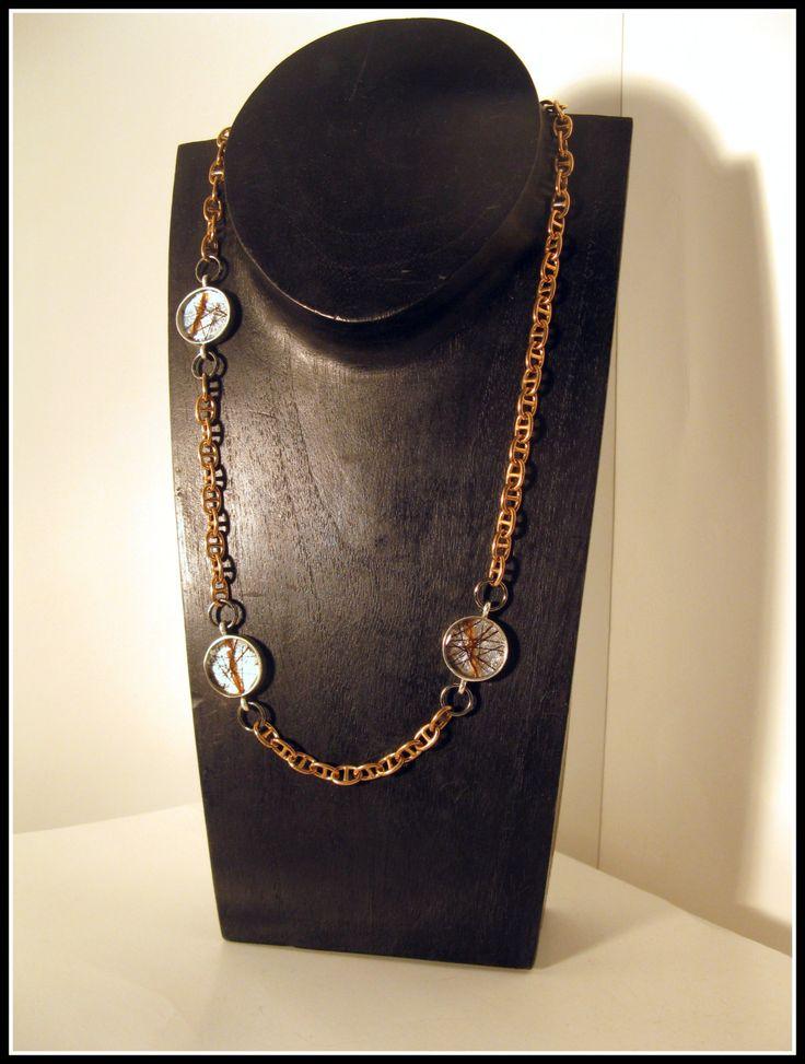 Brass chain NECKLACE de la boutique MPierArtEquin sur Etsy