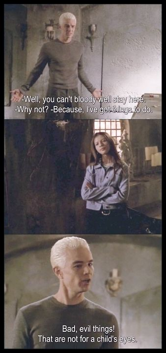 Spike and Dawn. Buffy the Vampire Slayer