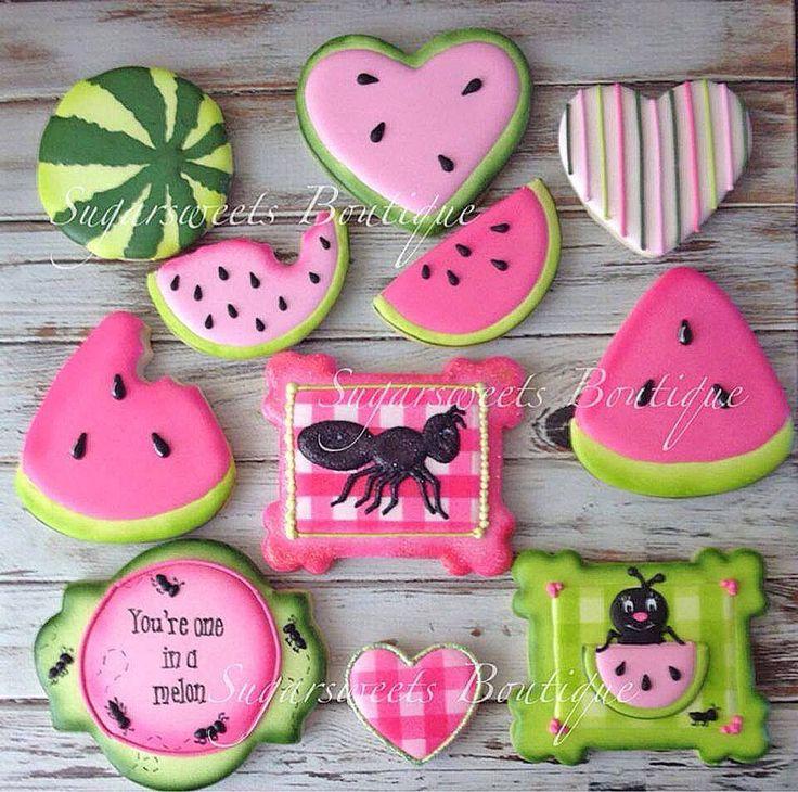 Watermelon ants sugar cookies
