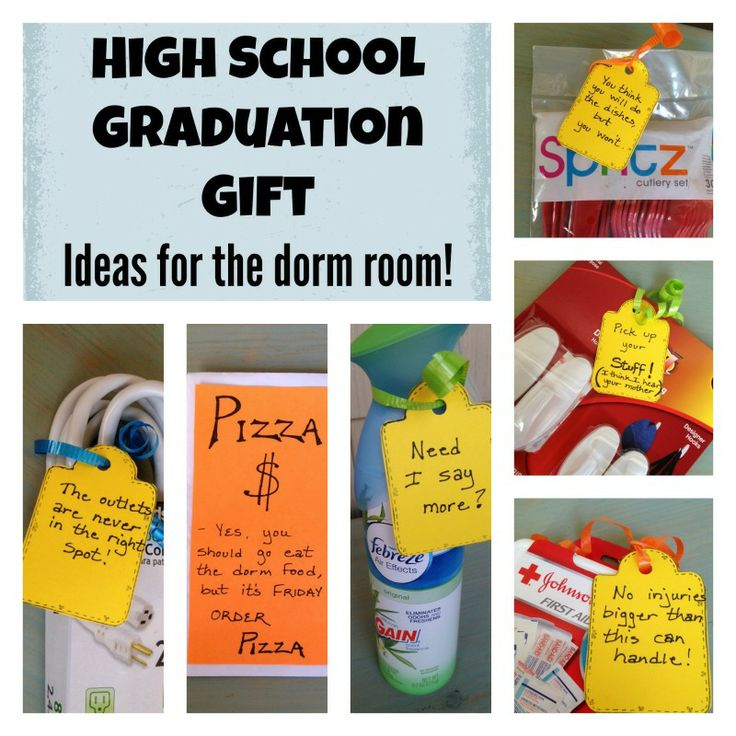 How do you make a gift to a High School Graduate fun?  Give them a few amusing items for their dorm room!  A fun gift to make and receive!