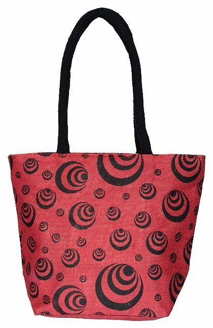 Utsav Kraft Women's Handbag (Pink and Black)