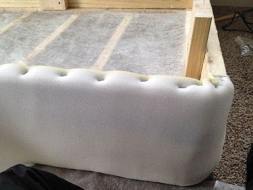 Wrap The Box Spring In Foam Padding And Staple Before Covering Fabric Looks So Cushy Professional This Way Home 2018 Bedroom Bed