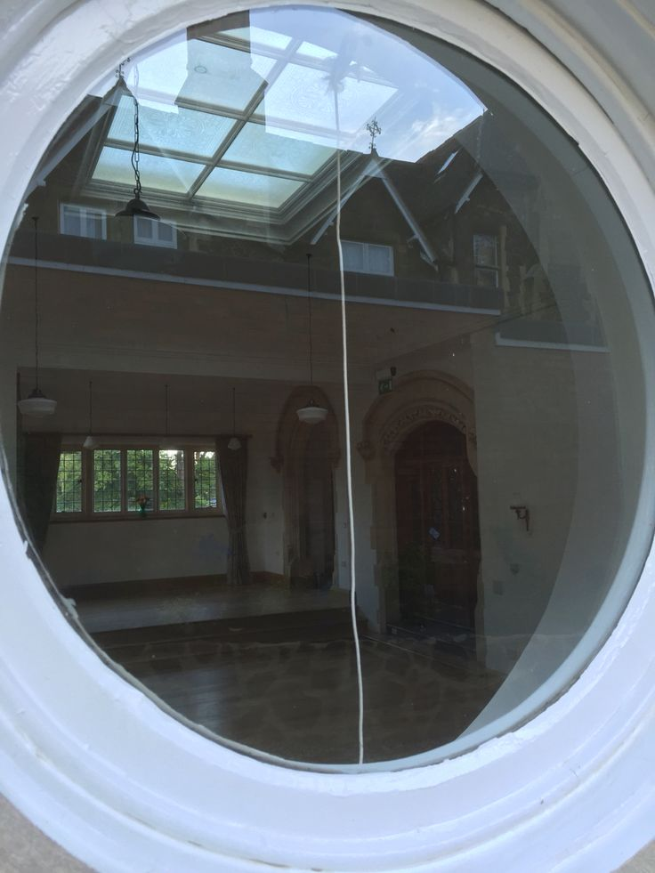 Portholes into hall at Elmslie