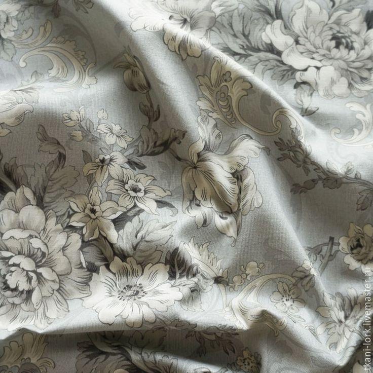 Купить Хлопок дизайнерский - серый, серая ткань, ткань с рисунком, ткань с принтом, ткань для творчества