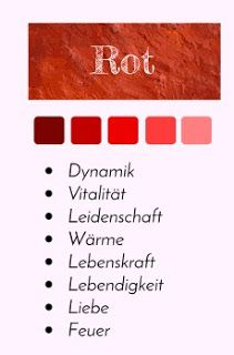 Farbporträt: Die Farbe Rot #Farbpsychologie #Farbwirkung #Farbtabelle #Farbenergie #Farben #Design #Grafik #infografik