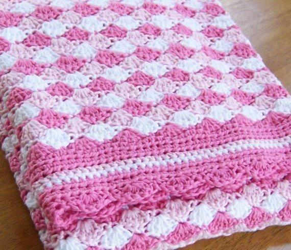 Pretty crocheted baby blanket