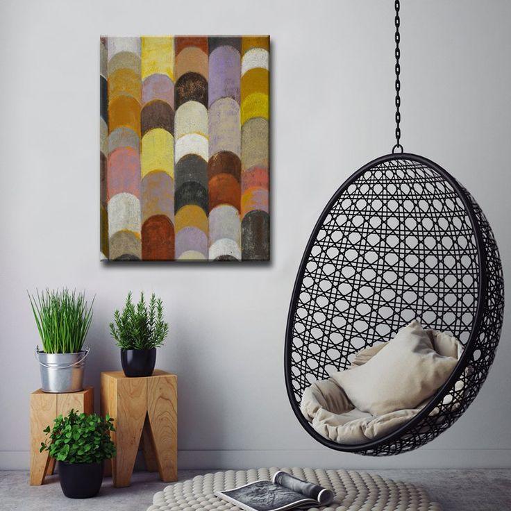 living room art prints%0A Ready HangArt Banded I Canvas Wall Art  NW   AGWC