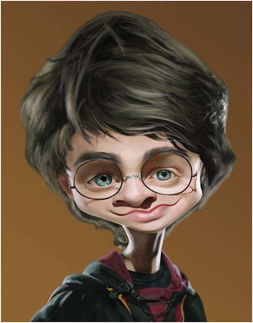 Harry Potter Caricatures.  We use this pic with one of our Tshirt displays. OC High School of the Arts OShop