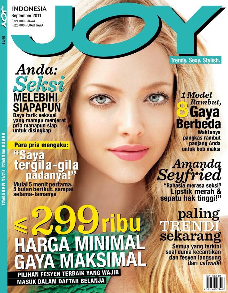 JOY Indonesia September 2011 issue.  #AmandaSeyfried