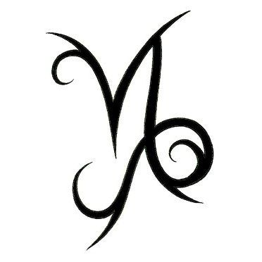 Capricorn Zodiac Sign Tribal Tattoo Winged capricorn zodiac sign