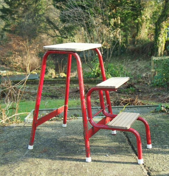 Check out this item in my Etsy shop //.etsy. Painted StoolsPainted MetalStep StoolsFolding StoolVintage MetalRed ... & 27 best vintage step stools images on Pinterest | Step stools ... islam-shia.org