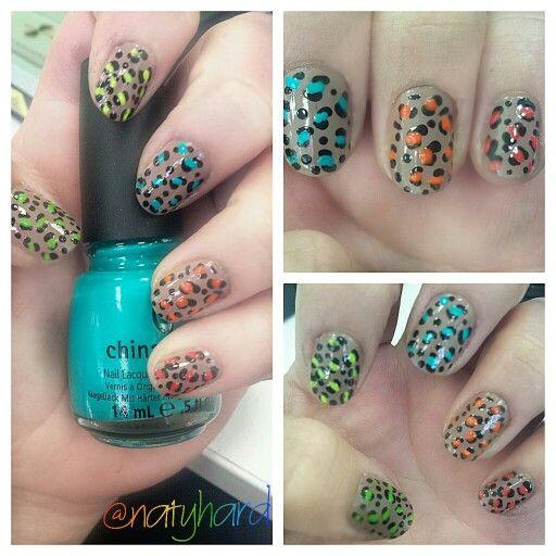 Leopardo animal print #manicure #nails #manchas #nails #uñas #manos #esmalte #animalprint