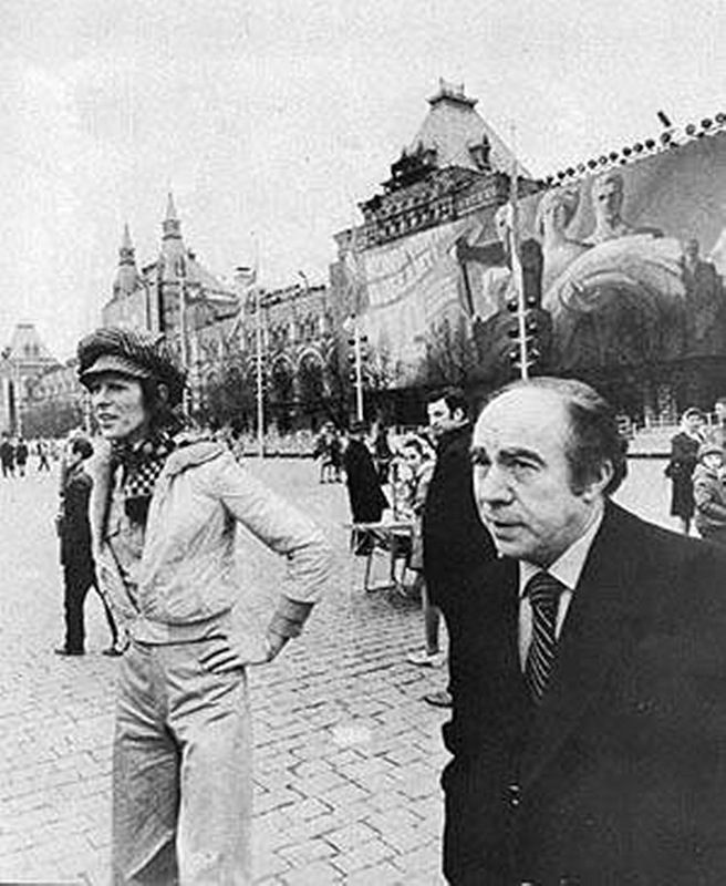 David Bowie - Red Square, Moscow, 1973.