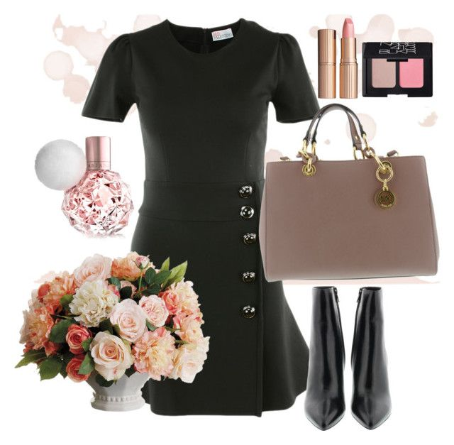 Who said pink is for spring? by brunarosso-eshop on Polyvore featuring moda, NARS Cosmetics, Charlotte Tilbury and Allstate Floral