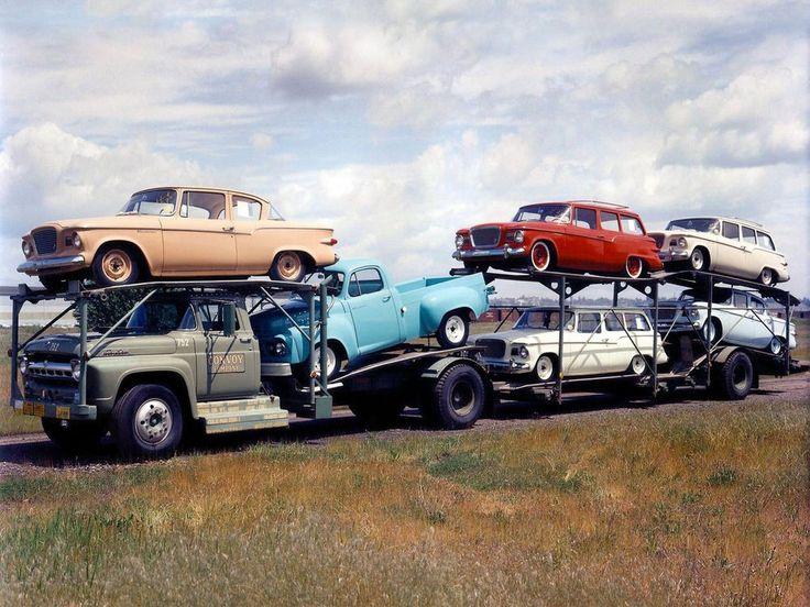 1960s Studebaker Larks On Car Carrier Kodachrome 8 x 10